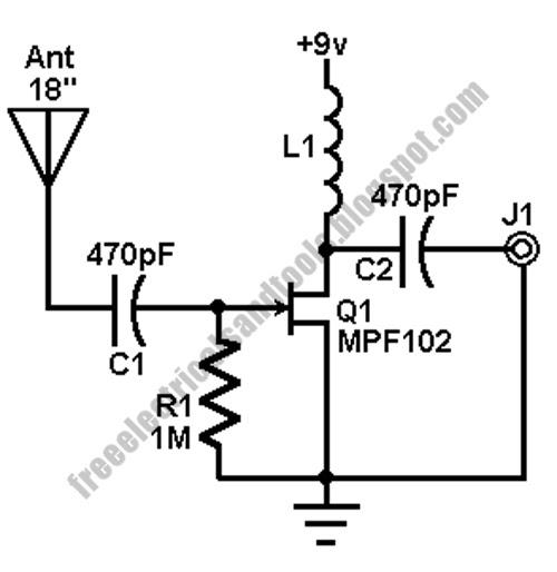 am fm antenna booster circuit