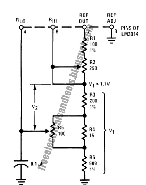 greatly expanded scale circuit using lm3914   electronic