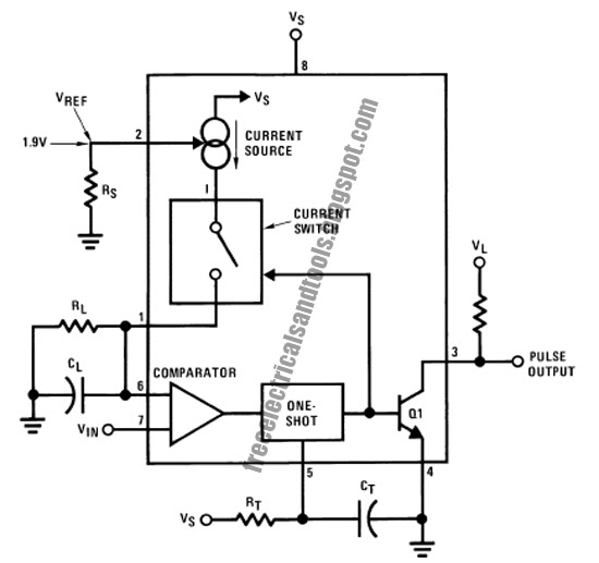 precision relaxation oscillator circuit using lm131
