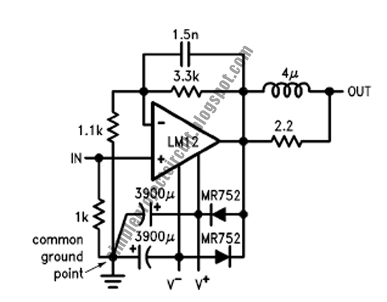 simple project electronic circuit  simple 80w operational