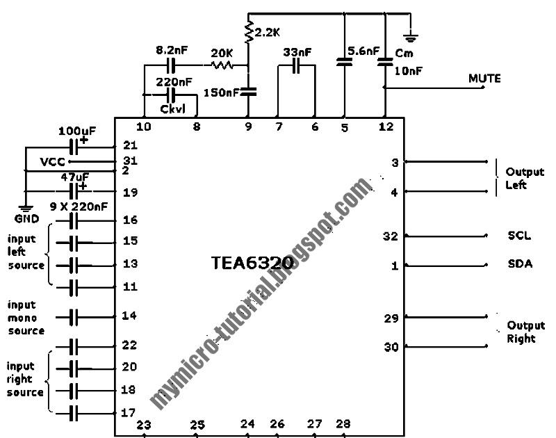 control tea6320 multichannel audio selector and volume control circuit