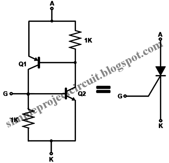 simple project circuit  simple transistor circuit substitute for scr