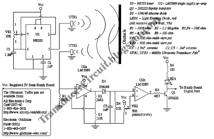obstacle detection sensor circuit transducer circuit diagram rh transducercircuit blogspot com Boat Transducer Direction Medicla Transducer Diagram