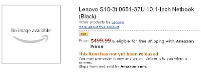 Lenovo Ideapad S10-3t now available for Pre-order