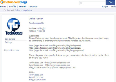 Create automatic feed from Blogger blog to your Facebook Fan Page