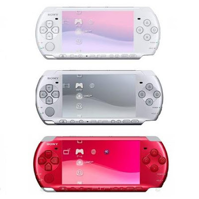 SONY PSP Radiant Red Mystic Silver Pearl White