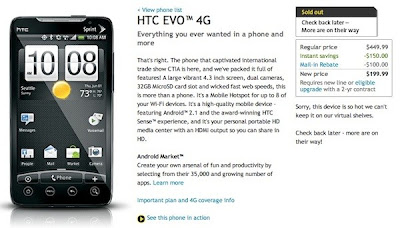 HTC EVO 4G sold out all over U.S.