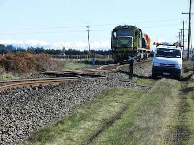 Earthquake Turns Train Tracks into Bizarre ZigZag