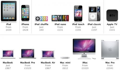 Apple breaks psychological price points in UK as VAT increases