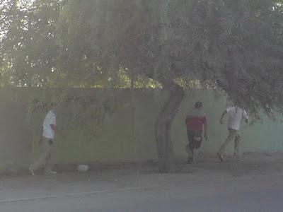 Jovenes pinteros de la secundaria Heroes de Caborca
