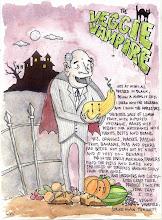 """""""Veggie Vampire"""" Original (11"""" x 14"""") $ 125.00"""