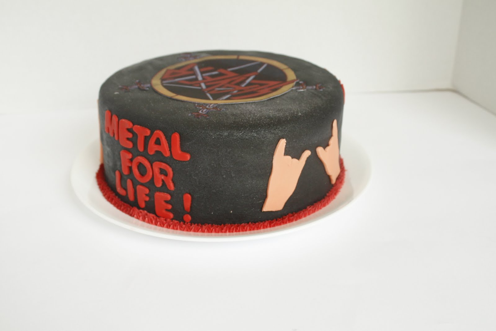 That Takes The Cake Creations M M Rock On Slayer Fan - Slayer birthday cake