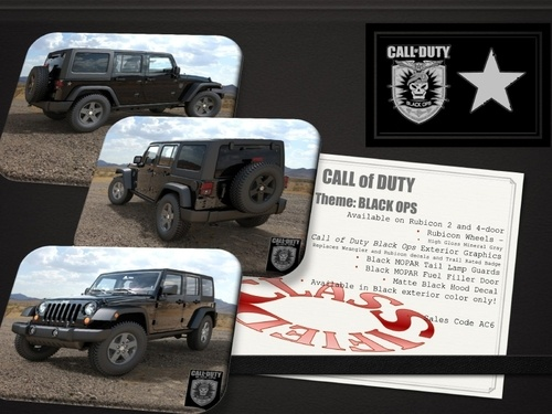 a new Jeep Wrangler celebrating the new Call of Duty: Black Ops game.