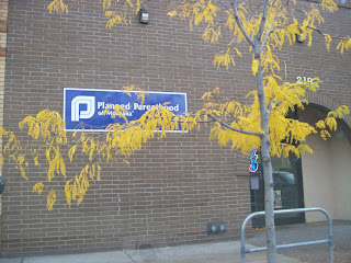 The front of the Planned Parenthood building