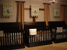 Triplet's Banners over cribs