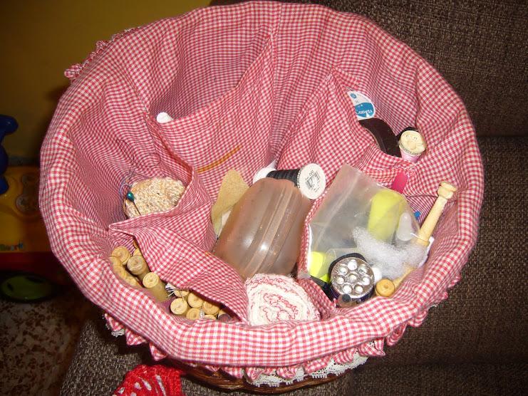 la cesta por dentro