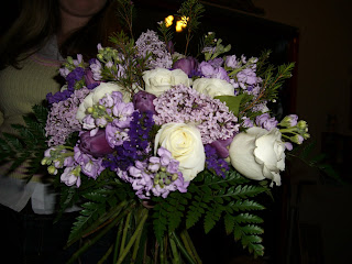 My bouquet, about to be tied.