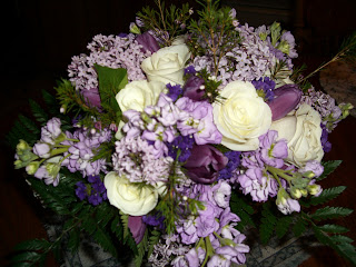 Another view of the wedding bouquet.