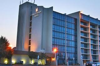 The exterior of the Millennium Hotel in Buffalo, NY.