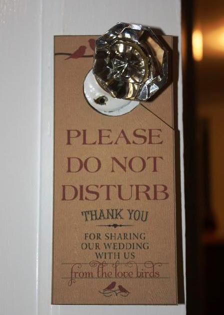 Wedding sparks by carolyn alan diy door hangers do not disturb - Diy do not disturb door hanger ...