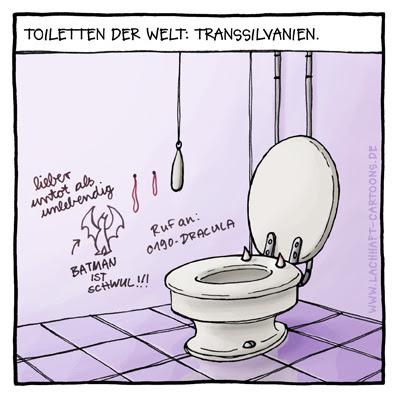 Klowitz Transsilvanien Vampire Toiletten Batman Cartoon Cartoons Witze witzig witzige lustige Bildwitze Bilderwitze Comic Zeichnungen lustig Karikatur Karikaturen Illustrationen Michael Mantel lachhaft Spaß Humor