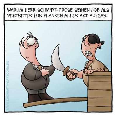 Vertreter Piraten Planke Schiff Cartoon Cartoons Witze witzig witzige lustige Bildwitze Bilderwitze Comic Zeichnungen lustig Karikatur Karikaturen Illustrationen Michael Mantel lachhaft Spaß Humor
