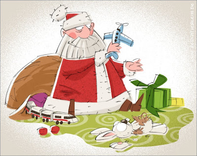 Weihnachtsmann Illustration Michael Mantel