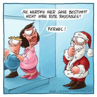 Weihnachtscartoon Weihnachten Weihnachtsmann Rute herausholen pervers schweinisch versaut Kinder Mißverständnis Cartoon Cartoons Witze witzig witzige lustige Bildwitze Bilderwitze Comic Zeichnungen lustig Karikatur Karikaturen Illustrationen Michael Mantel lachhaft Spaß Humor