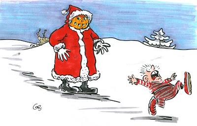 LACHHAFT Adventskalender Gerd Bauer Weihnachtsmann Halloween
