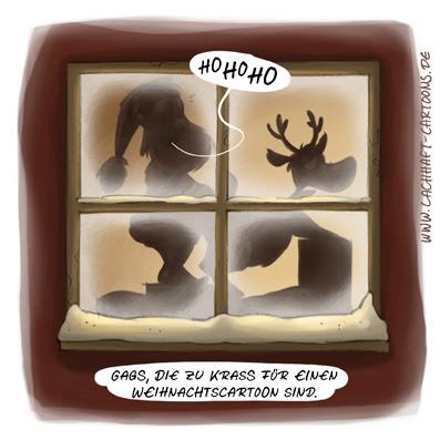 LACHHAFT Cartoon Weihnachten Weihnachtscartoon Weihnachtsmann Rentier Rudolf Rudolph Sex versaut pervers Zensur Cartoons Witze witzig witzige lustige Bildwitze Bilderwitze Comic Zeichnungen lustig Karikatur Karikaturen Illustrationen Michael Mantel Spaß Humor