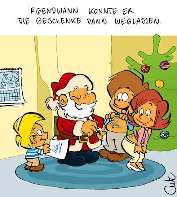 LACHHAFT Adventskalender Cartoon von Ferdinand Lutz Weihnachten Weihnachtsmann Kinder Autogramme Geschenke Star Hollywood