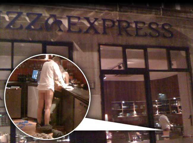 Couple caught having sex in Pizza Express