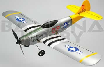 silver p51d mustang rc planes