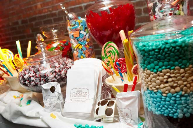 Thinking about the season when creating a candy buffet for your wedding