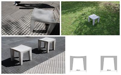 bancos de cemento para jardin