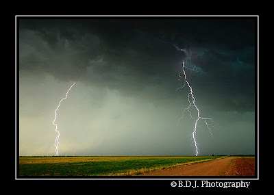 CG lightning from 6/6/09 storm Benjamin, TX