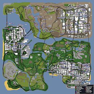 Mapa de la ubicación de todas las tiendas y edificios en los que se