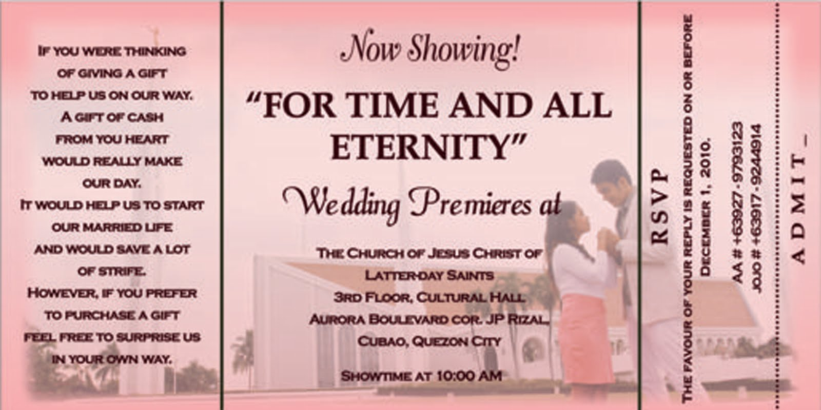 My Comings and Goings: Jojo and AA\'s Wedding: Unforgettably Unique ...