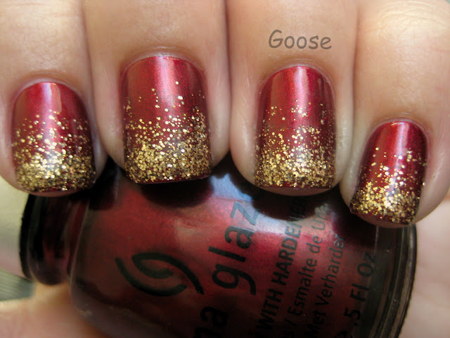 Red Gold Bangladeshi Manicure Bridal