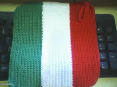 bandeira da Italia em croche