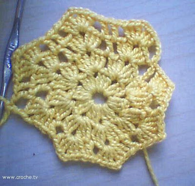 porta copos de crochet