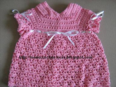 vestido de bebê de croche