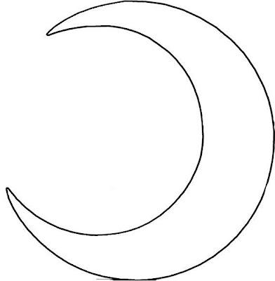 Desenhos para pintar e colorir.: Desenho de estrela e lua