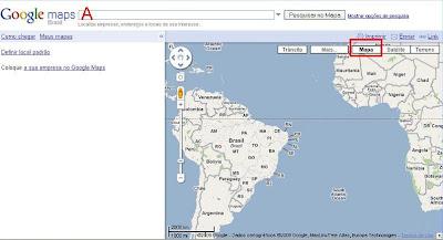 mapa via satelite