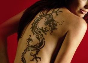 tatuagens femininas de dragão