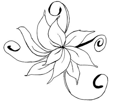 Fotos Para Pintar De Flores - Mariposas Dibujos para colorear