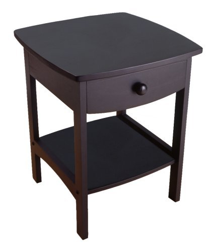 Cheap coffee tables winsome wood end table night stand for Black wood coffee table and end tables