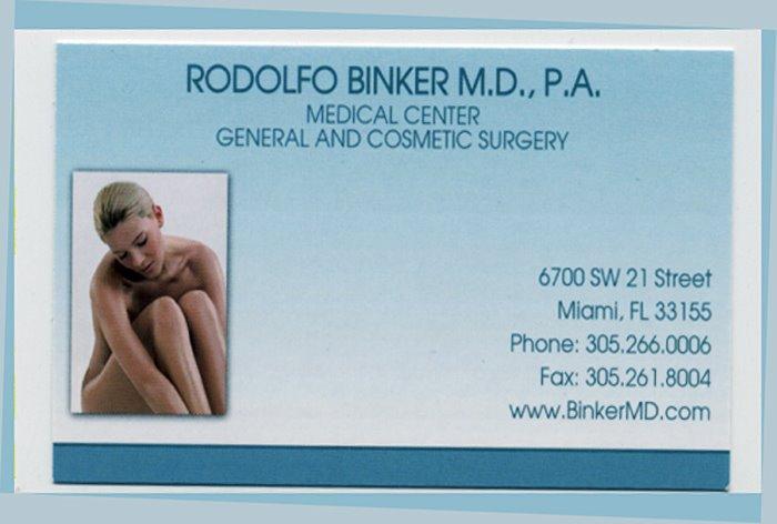 RODOLFO BINKER M.D.,P.A.