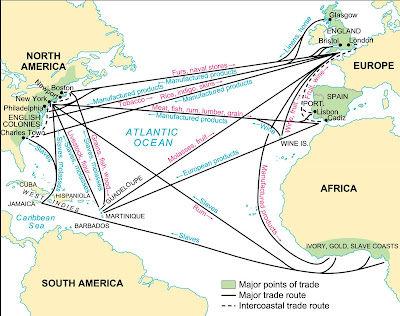 Triangular Trade Map