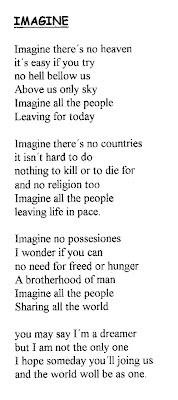 Imagine john lennon with lyrics
